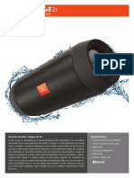 Specification sheet - JBL Charge 2+ (Spanish)