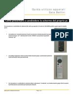 Guida Utilizzo Apparati Sala Bellini - Leaflet