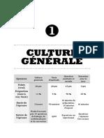 III.1 - Culture Générale