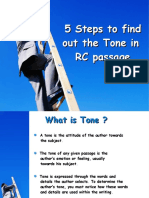5 Steps to Find Out Tone.
