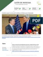 Boletín de noticias KLR 19SEP2016