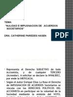 Impugnacion de Acuerdos Societarios.expoSICION.28.02.2013.CATHY