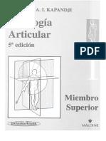 1. Fisiologia Articular - Miembro Superior