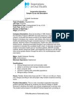 Ch8 Sample Coop Job Description