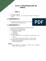 Presupuesto y Programación de Obras