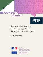 Représentations de la culture dans la population française