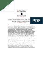 La Tradición Hermética y Platónica en Dante y Los Fieles de Amor. 1ª Parte