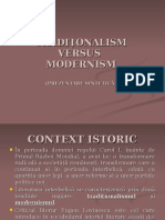 Traditionalism Modernism