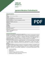Maestría en Ingenieria Mecanica-Profundización