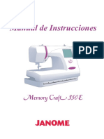 Janome Mc350e Manual de Uso