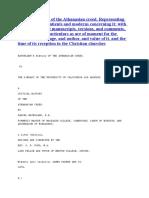 History of the Athanasian Creed (Waterland)