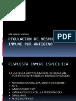 Regulacion de Respuesta Inmune Por Antigeno 2016