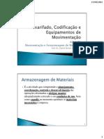 AULA 05 Movimentação e Armazenagem de Materiais Prof. Dr. Daniel Bertoli Gonçalves