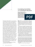 Circulating Interleukin 15 in Dementia Disorders_2007