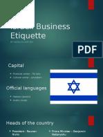 Israeli Business Etiquette