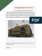 Las Municipalidades Del Perú