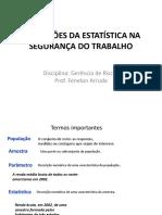 APLICAÇÕES DA ESTATÍSTICA NA      SEGURANÇA DO TRABALHO.pdf
