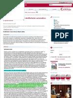 Indicaciones actuales del desfibrilador automático implantable