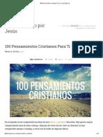 100 Pensamientos Cristianos Para Ti