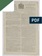 Montreal Gazette 1799, page 1