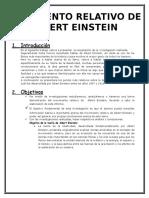Movimiento Relativo de Albert Einstein