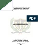228- Ttg - Rediseño de La Distribución de La Planta Física Del Área de Producción y Almacén de La Empresa Tubos y Metales & CIA Ltda.