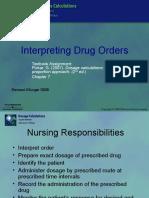 Interpreting Drug Orders Chapter 07