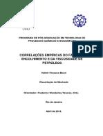 Correlacoes Empiricas Do Fator de Encolhimento e Da Viscosidade de Petroleos