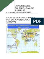 En El Mapamundi Area Geografica en El Cual Se Desarrollan Las Civilizaciona Antiguas
