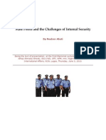 State Police and the Challenges of Internal Security - Dr. Reuben Abati