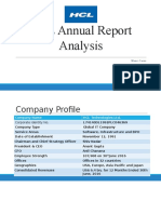 HCL Annual Report Analysis Final 2015