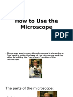 2016 Fall How to Use the Microscope