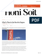 USyd's Plan to End the Arts Degree – Honi Soit - INSIPID - Michael Spence - Vice Chancellor - Sydney University - University of Sydney