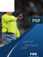 Laws of the Game 2010-2011