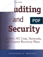 Wiley - Auditing and Security - As400, Nt, Unix, Networks, And Disaster Recovery Plans (2001)