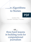 From Algorithms to Stories.