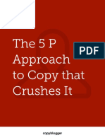 Copyblogger 5P Approach to Copy That Crushes It 2