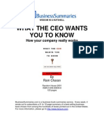 What the CEO Wants You to Know
