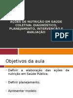 Ações de Nutrição Em Saúde Coletiva 2012-1