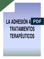 Adhesion a Los Tratamientos Terapeuticos