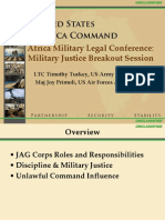 Military Justice_Africa Military Legal Conference 2010