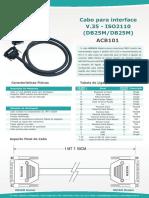 Datasheet Cabo ACB101 ISO2110 v1 Qualidade