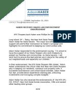 Haber Receives Major Law Enforcement Endorsement