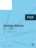 Q1 2016 Earnings Release