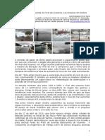 A aceleração da subida do nível dos oceanos e as ressacas em Santos