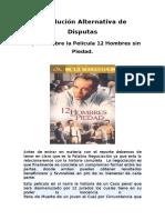 Reporte sobre la Película 12 Hombres sin Piedad