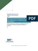 SRT - Gestión de Sistemas de Seguridad y Salud en El Trabajo