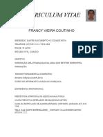Curriculum Vitae Francy Com Foto