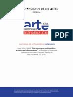 Por Una Nueva Problemática Artística en Latinoamérica