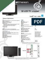 Emerson 32 LCD TV LC320EM1
